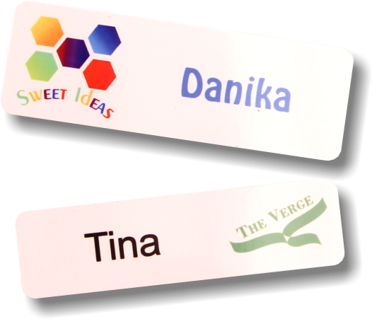 White Aluminium Name Badges